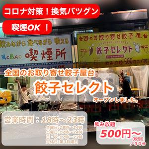 餃子セレクト 〜全国のお取り寄せ餃子専門屋台〜 *風と島人喫煙所兼用